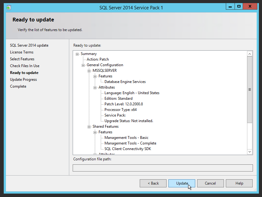 How To Install SQL Server 2014 Service Pack 1 and CU6