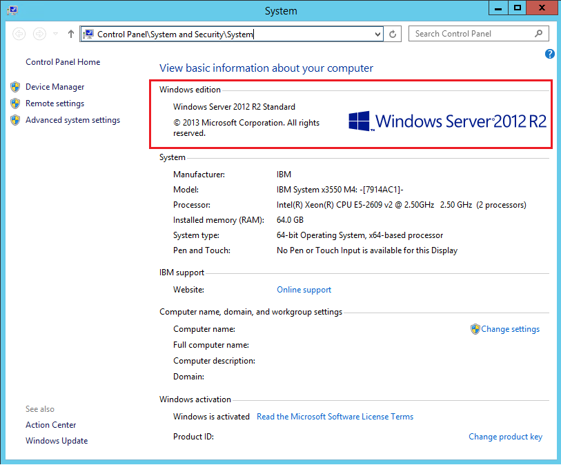 SQL Server 2012 R2 Standard